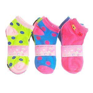 NWT 9-Pairs Girl's Cotton Low cut Socks  4-8 YO
